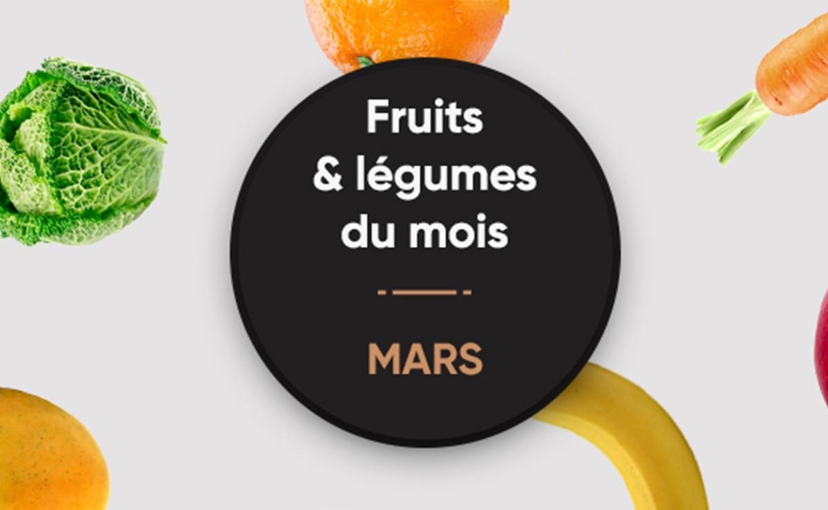 Les fruits et légumes du mois de Mars