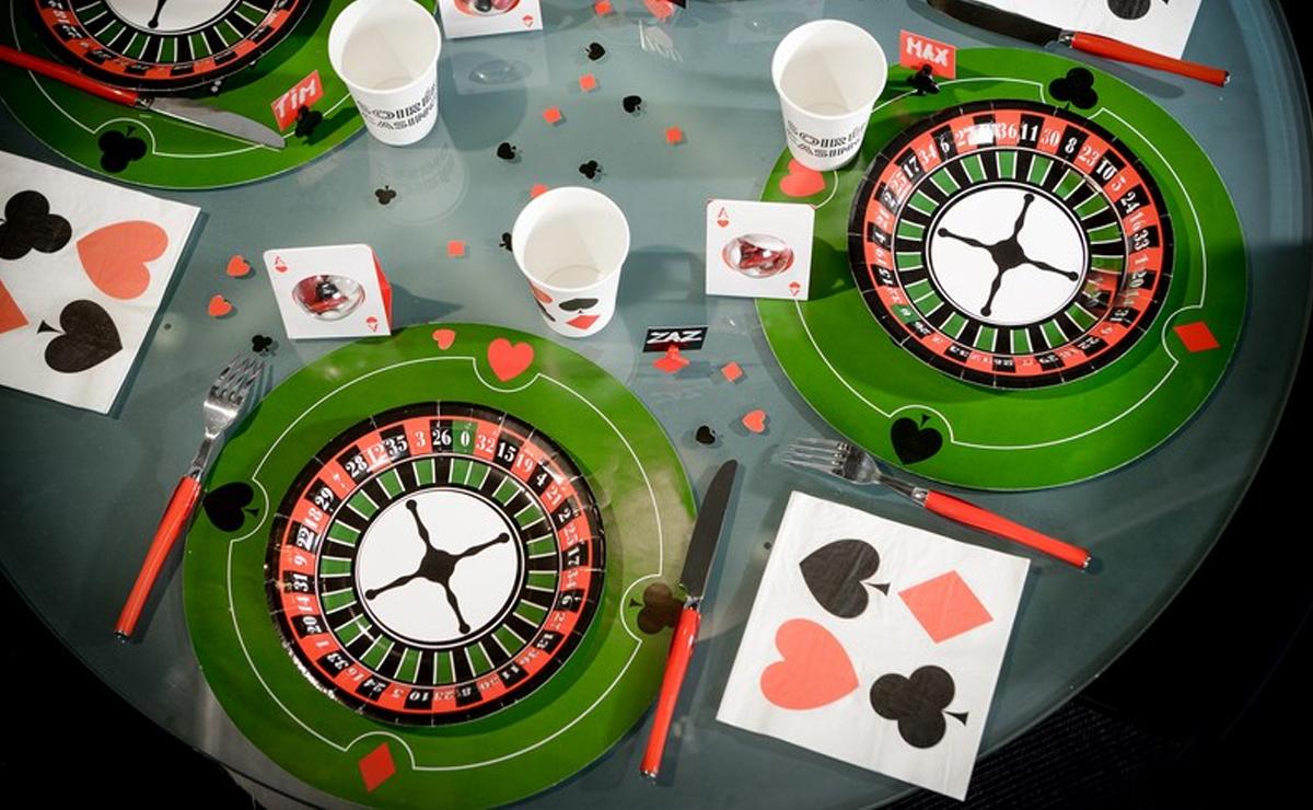 Un apéritif dînatoire sur le thème du casino