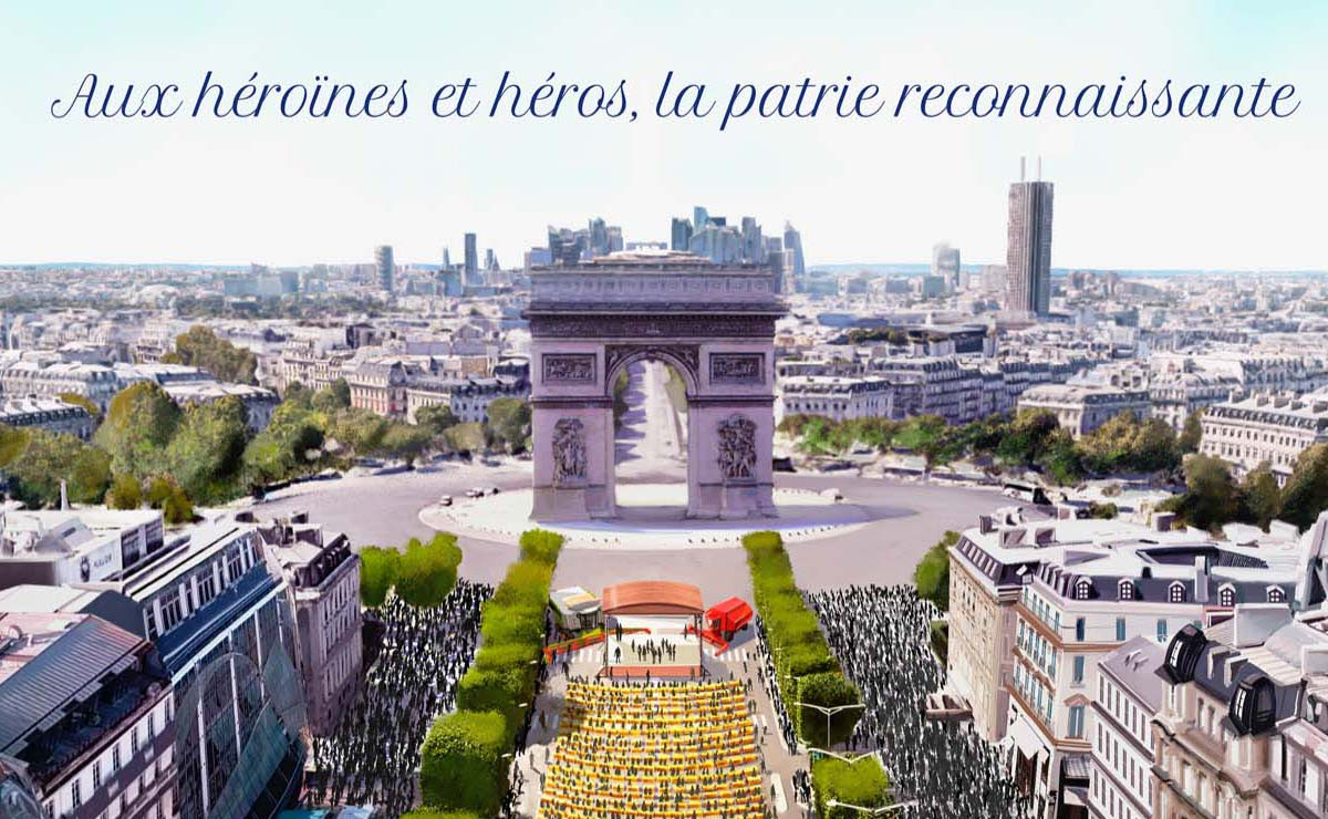 « Aux héroïnes et héros, la patrie reconnaissante » !
