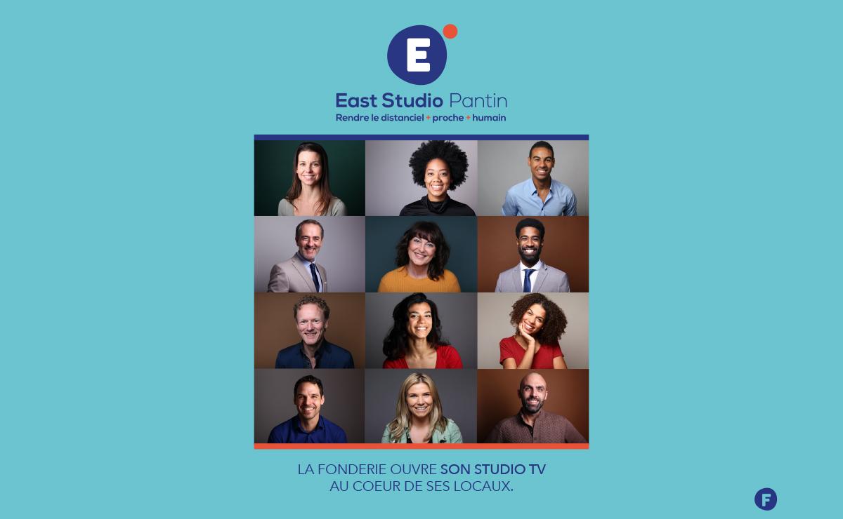 East Studio Pantin – Le studio TV de l'agence La Fonderie